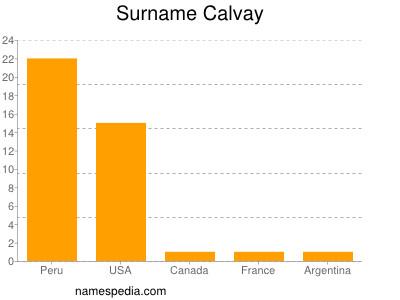 Surname Calvay