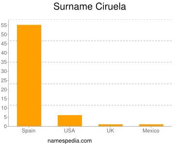Surname Ciruela