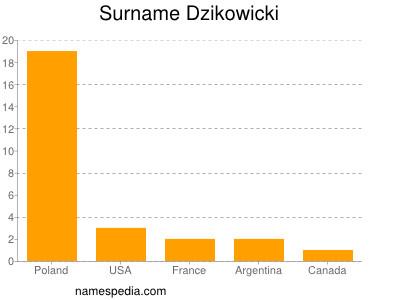 Familiennamen Dzikowicki