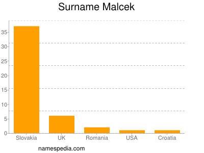 Familiennamen Malcek