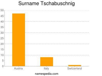 Surname Tschabuschnig