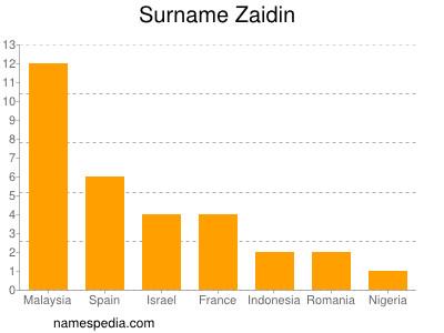 Surname Zaidin