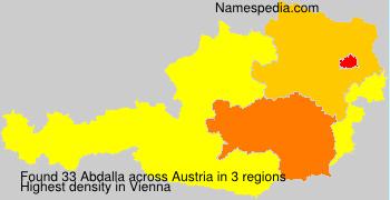 Surname Abdalla in Austria
