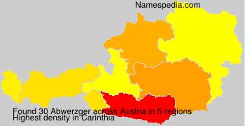 Surname Abwerzger in Austria
