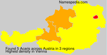 Surname Acaris in Austria