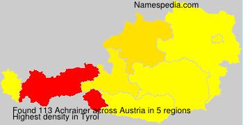 Surname Achrainer in Austria