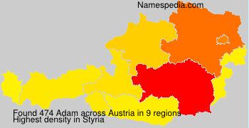 Surname Adam in Austria