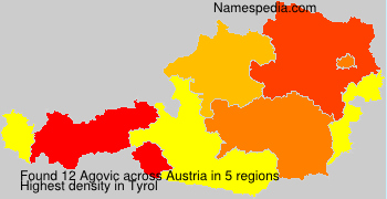 Surname Agovic in Austria