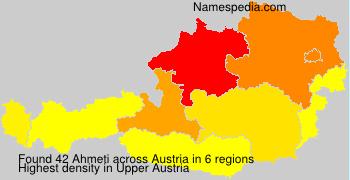 Surname Ahmeti in Austria