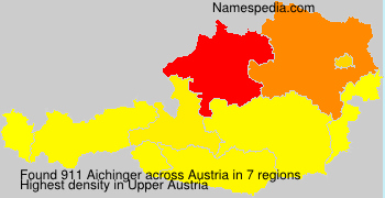 Surname Aichinger in Austria