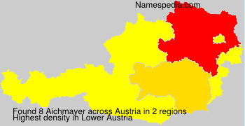 Surname Aichmayer in Austria