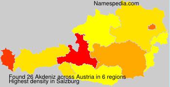 Surname Akdeniz in Austria