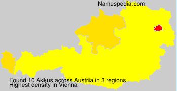 Surname Akkus in Austria