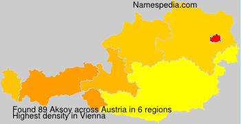 Surname Aksoy in Austria