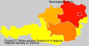 Surname Alexa in Austria