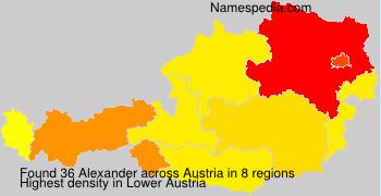 Surname Alexander in Austria