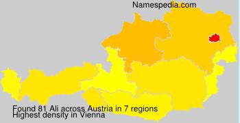 Surname Ali in Austria