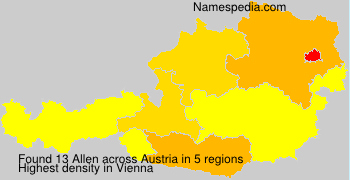 Surname Allen in Austria