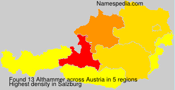 Surname Althammer in Austria