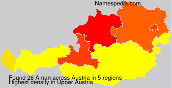 Surname Aman in Austria