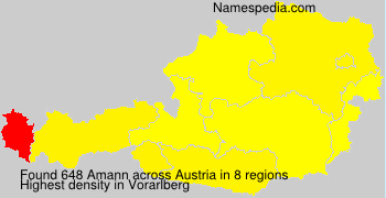 Familiennamen Amann - Austria