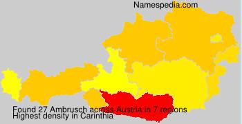 Surname Ambrusch in Austria