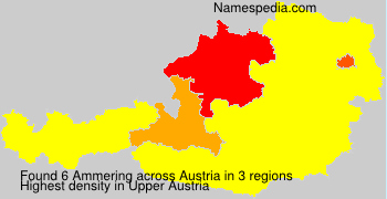 Surname Ammering in Austria
