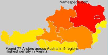 Surname Anders in Austria
