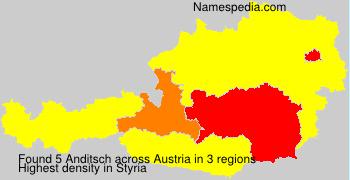 Surname Anditsch in Austria