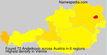 Surname Andjelkovic in Austria