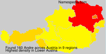 Surname Andre in Austria