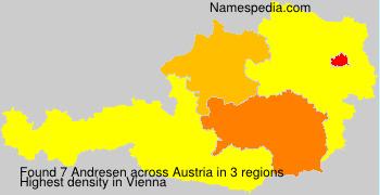 Familiennamen Andresen - Austria