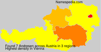 Surname Andresen in Austria