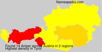 Surname Aniser in Austria