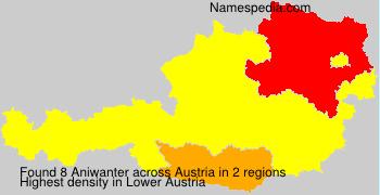 Familiennamen Aniwanter - Austria