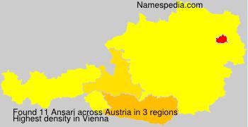 Familiennamen Ansari - Austria