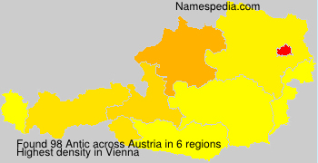 Surname Antic in Austria