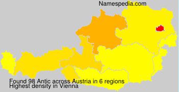 Surname Antic in Austria
