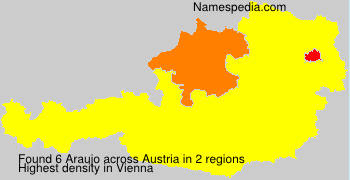 Familiennamen Araujo - Austria