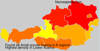 Surname Arndt in Austria