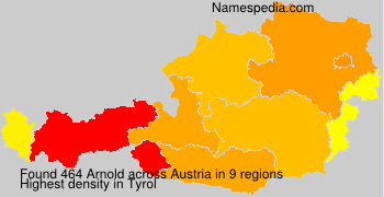 Surname Arnold in Austria