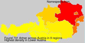 Familiennamen Artner - Austria