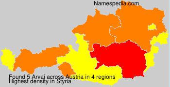 Surname Arvai in Austria