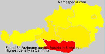 Surname Arztmann in Austria