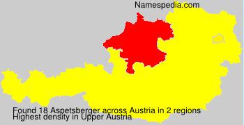 Surname Aspetsberger in Austria