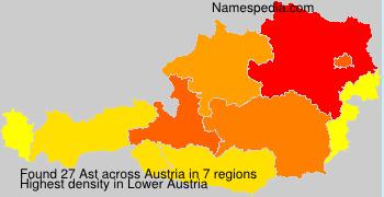 Surname Ast in Austria