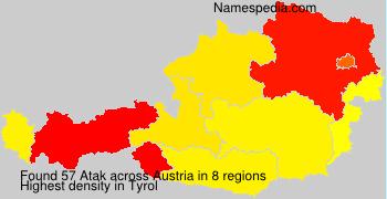 Surname Atak in Austria