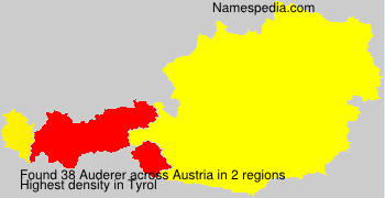 Surname Auderer in Austria