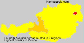 Familiennamen Avakian - Austria