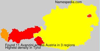 Familiennamen Avanzini - Austria